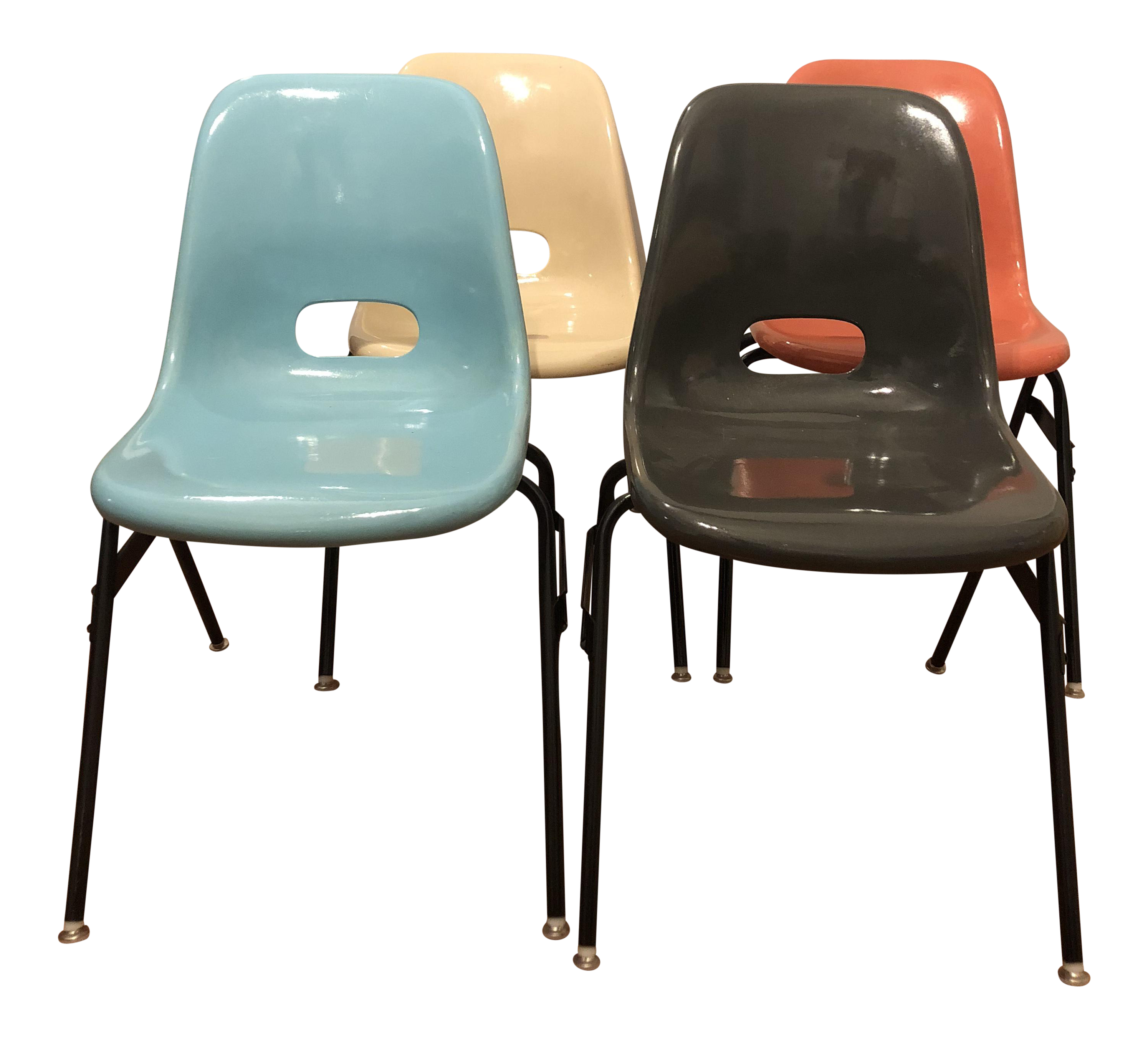 Attrayant Krueger Fiberglass Eames Atomic Shell Chairs   Set Of 4 For Sale