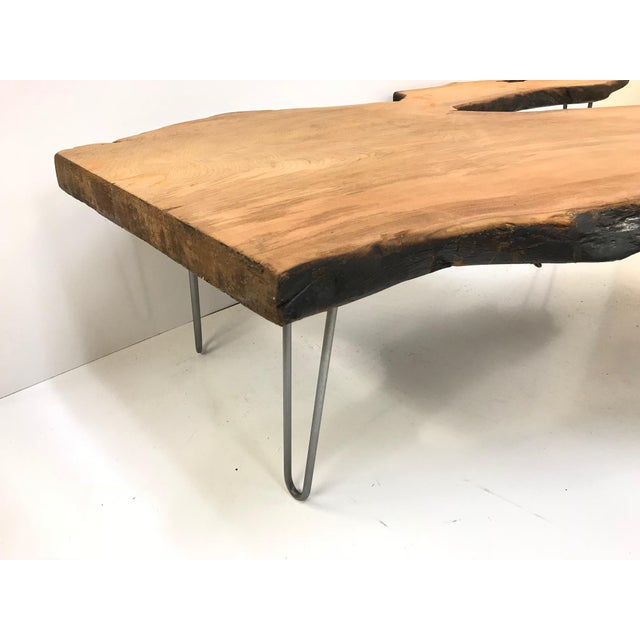 Large Organic Teak Live Edge Coffee Table - Image 3 of 7