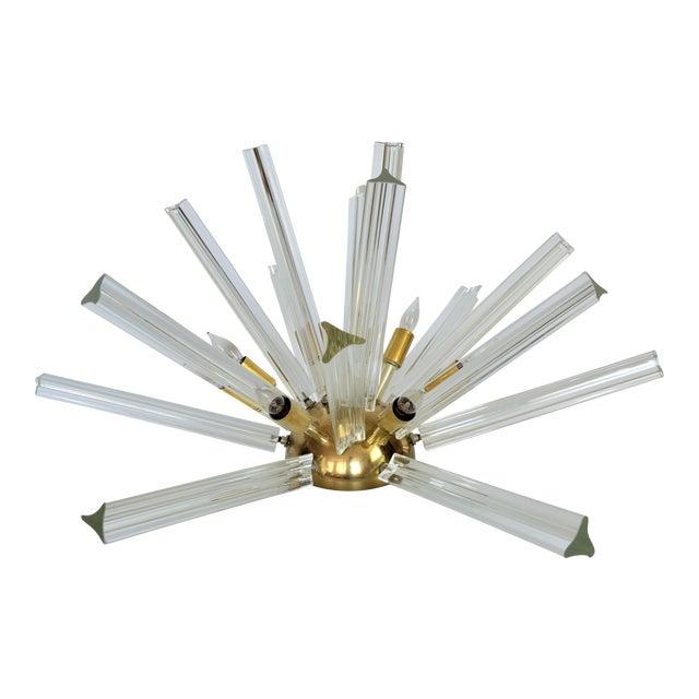 Venini Mid-Century Modern Italian Venetian Glass & Brass Sputnik Table Lamp Millennial - Image 1 of 11