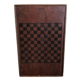 Image of Early American Wooden Checkerboard For Sale