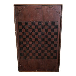 Early American Wooden Checkerboard For Sale