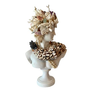 God Apollo Encrusted With Shells Gemstones and Corals Sculpture