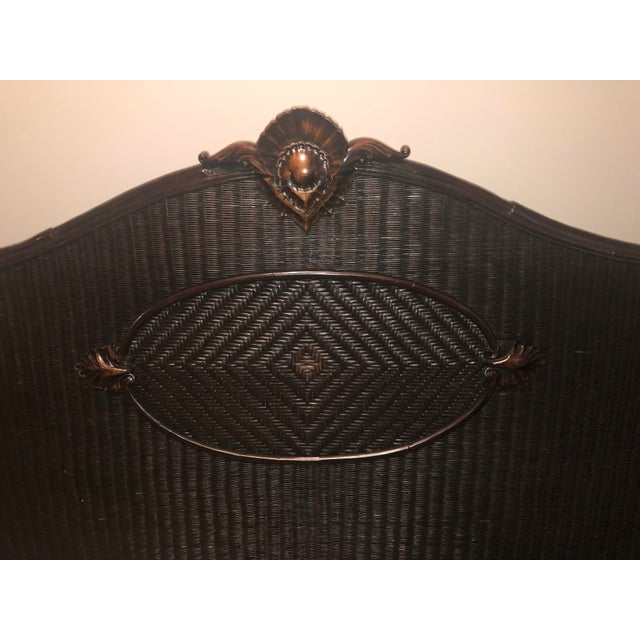 Country Ralph Lauren King-Sized Wicker and Wood Bedframe For Sale - Image 12 of 13