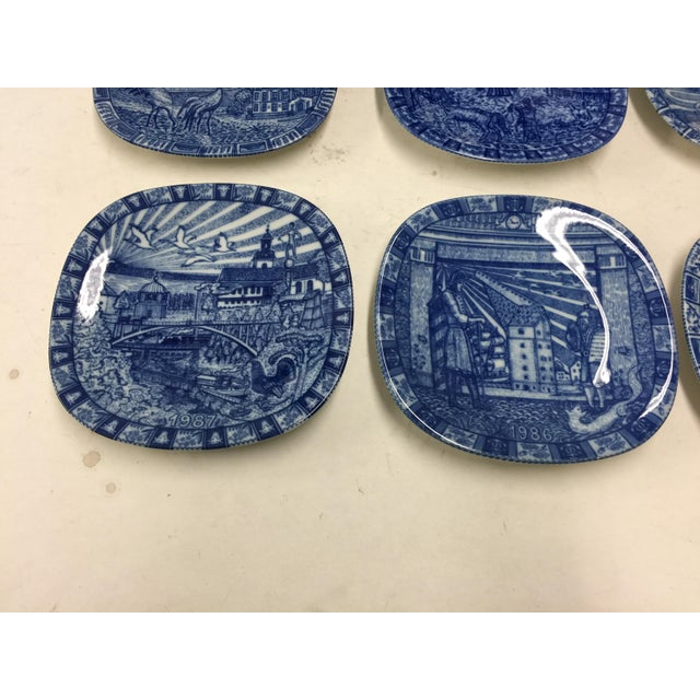 9 Vintage Rorstrand Swedish Chrismas Plates, in excellent condition with boxes. Great images. I love the blue and white...