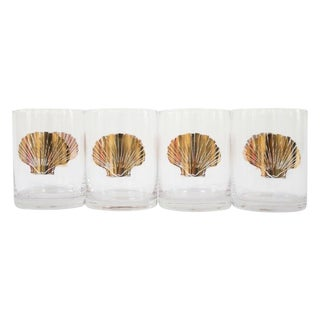 Gold Seashell Cocktail Glasses - Set of 4 For Sale