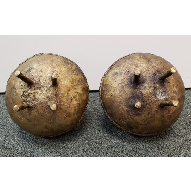 Mid 20th Century Ashanti Brass Kuduo Pots From Ghana - a Pair For Sale In New Orleans - Image 6 of 7