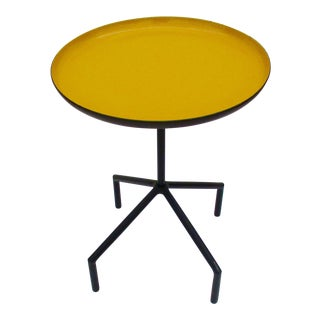 Yellow Enamel and Iron Side / Cigarette Table