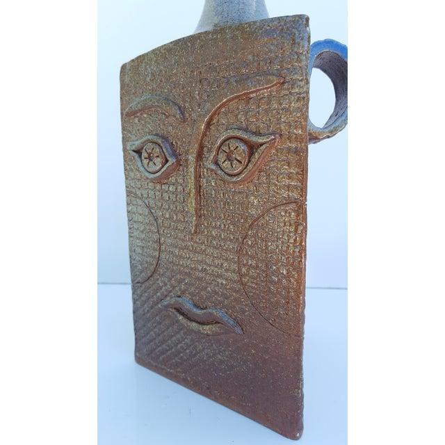 Vintage Art Handmade Sculptural Studio Pottery Vase For Sale - Image 4 of 11