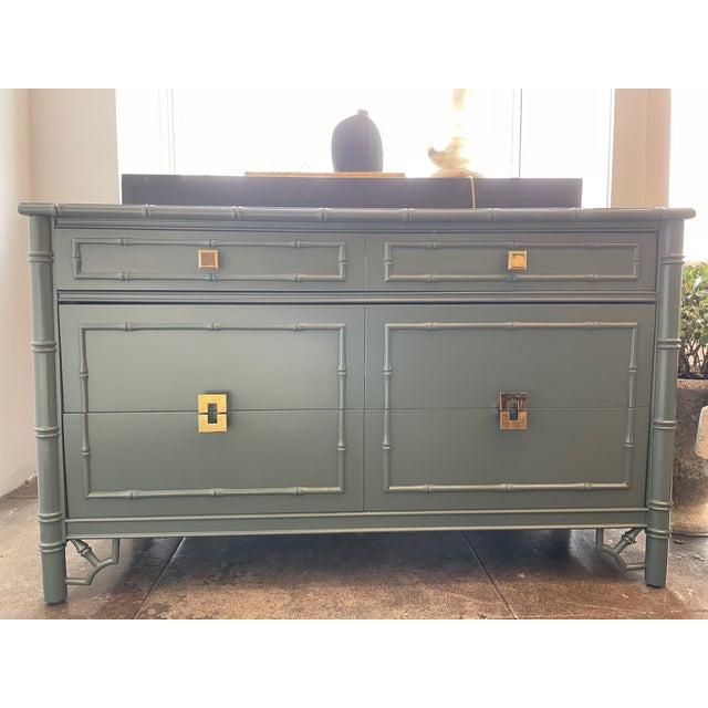1960s Thomasville Chinoiserie Allegro Lowboy Dresser/Chest For Sale - Image 10 of 10