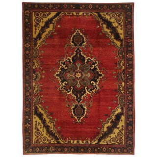 20th Century Turkish Oushak Rug - 8′2″ × 11′ For Sale
