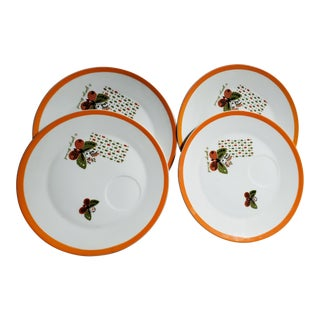 1960s Mid Century Modern Georges Briard Snack Plates - Set of 4 For Sale
