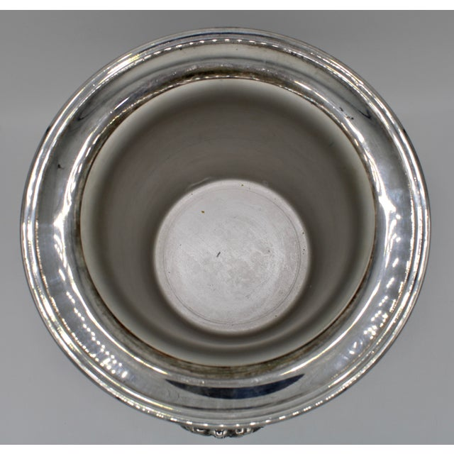 Mid-Century French Silver Plate Champagne Ice Bucket For Sale - Image 10 of 13