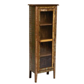 Reclaimed Wood Rustic Narrow Bookcase