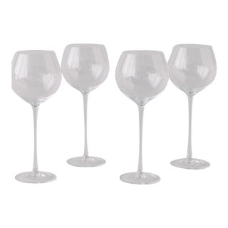 Siren Beverageware Clear White Wine - Set of 4 For Sale