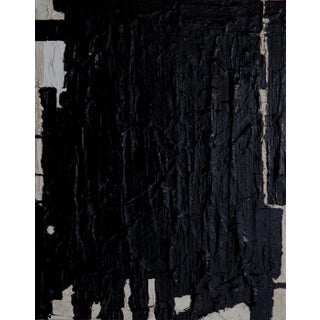 Abstract Painting Original Black Contemporary Art by Brian Elston For Sale