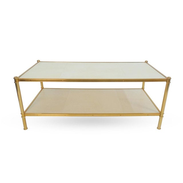 A coffee table based on the étagère design by Frederick Victoria for Billy Baldwin's client Cole Porter. The frame is...