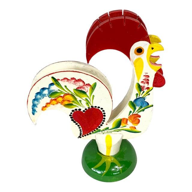 Vintage Rooster Napkin Holder For Sale
