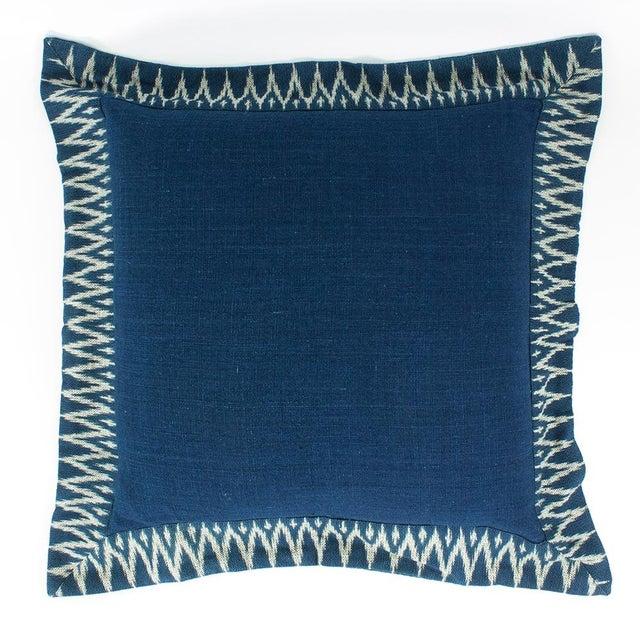 Indigo Ikat Pillow - Image 2 of 4