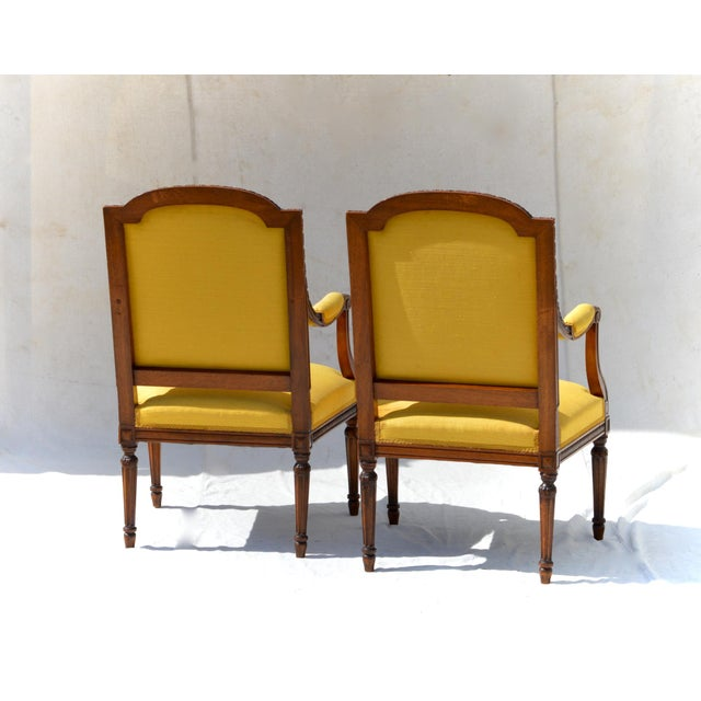 Louis XVI Fruitwood & Yellow Bergeres - A Pair - Image 8 of 10