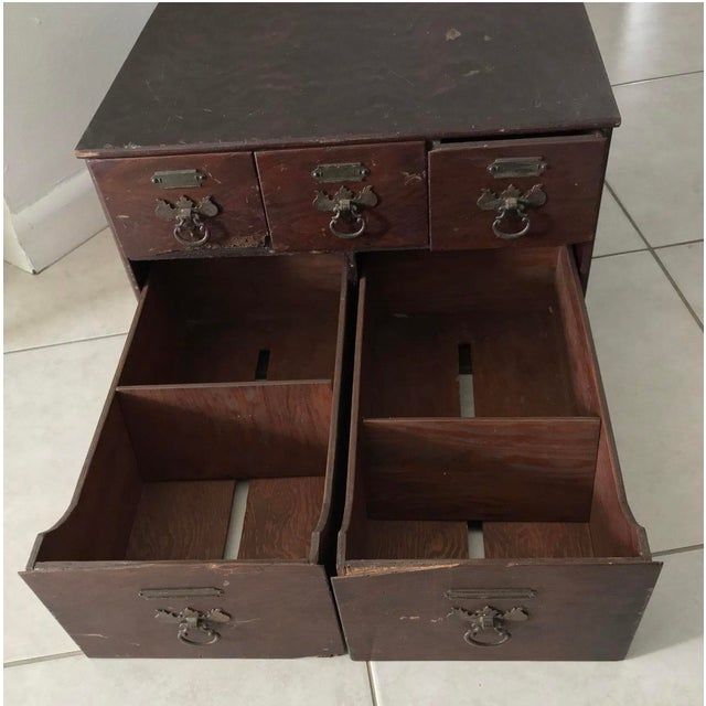 Late 18th Century Antique 18th Chippendale Card Filing Library Cabinet For Sale - Image 5 of 13