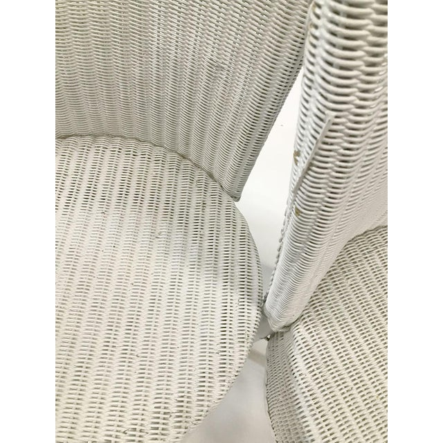 White 1950s Woven Lloyd Loom Chairs — Set of 4 For Sale - Image 8 of 12