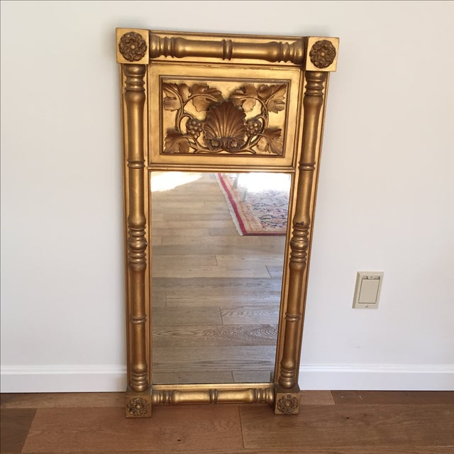 Empire Style Gilt Trumeau Mirror - Image 2 of 4