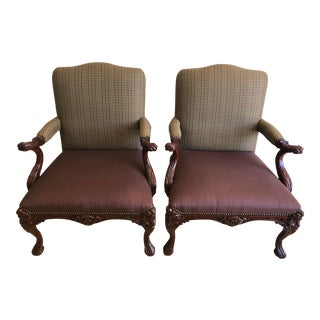 Ralph Lauren Clivedon Carved Chairs - A Pair