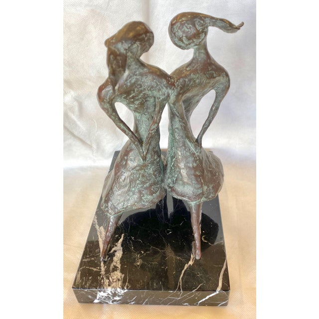 "Abstract Don Wilks Bronze Sculpture ""Sisters"" For Sale - Image 3 of 8"