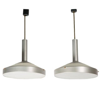 Pair of Two Pendant Lamps by Stilux For Sale