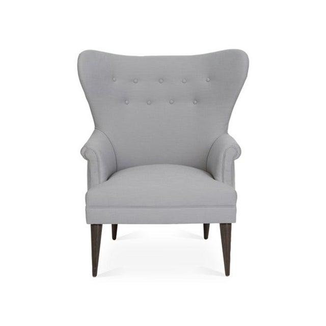 Kim Salmela Olsen Wingback Chair For Sale In Los Angeles - Image 6 of 6