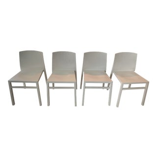 Solid Wood Dining Chairs - Set of 4 For Sale