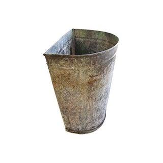 Antique French Zinc Harvesting Basket/Bucket