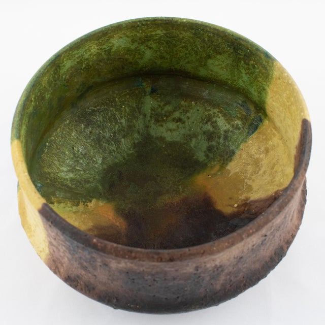 Marcello Fantoni Yellow, Green and Burgundy Ceramic Bowl, Circa 1970s For Sale In New York - Image 6 of 13