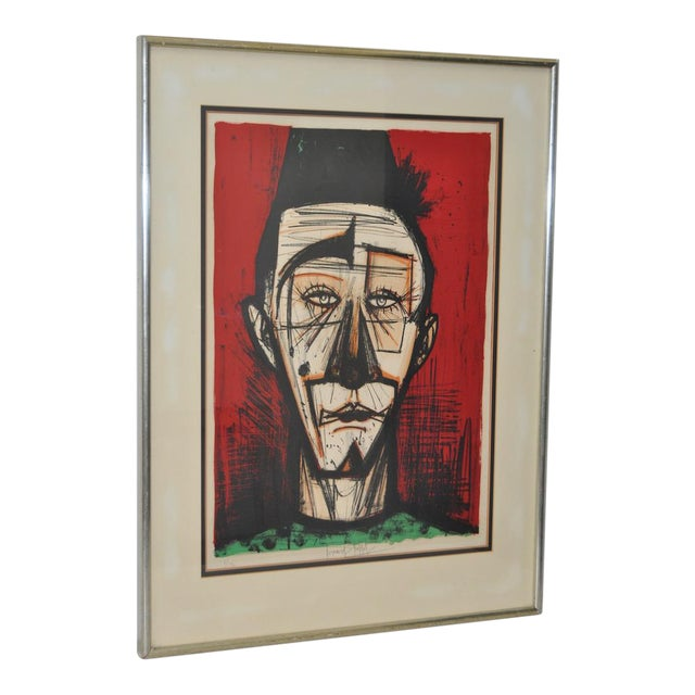 "Bernard Buffet ""Clown with Fez"" Lithograph c.1968 - Image 1 of 7"