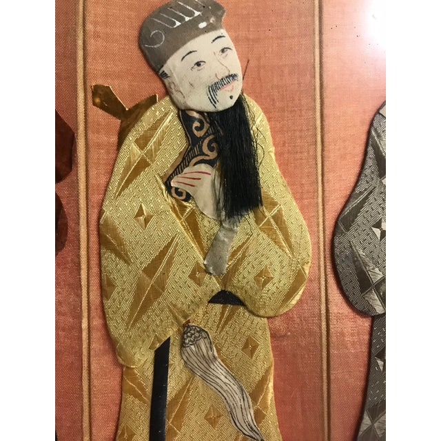 19th Century Framed Chinoiserie Figures For Sale - Image 9 of 12