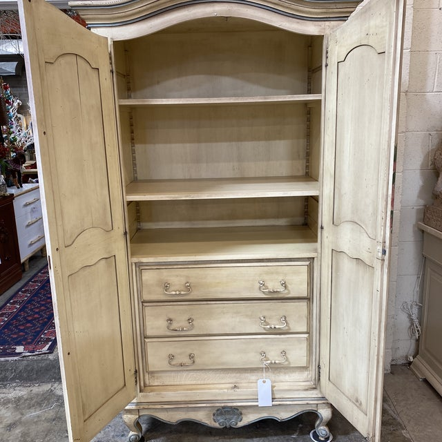 Custom Hand Made French Armoire For Sale - Image 4 of 13