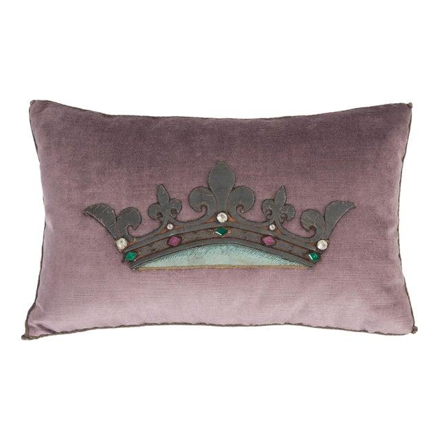 B. Viz Design Antique Textile Pillow For Sale