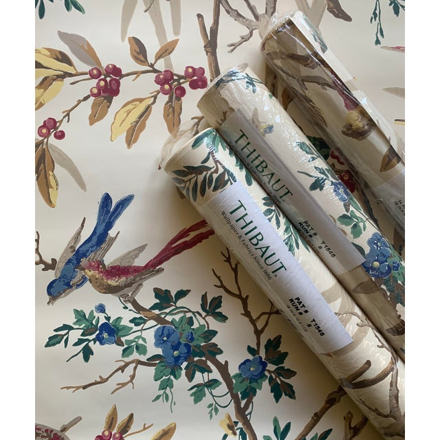 Vintage Thibaut Botanical Wallpaper Rolls - 2 Double Rolls & 2 Single Rolls For Sale - Image 11 of 12