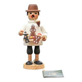 "German Handmade Incense Smoker ""Räuchermann"" For Sale"