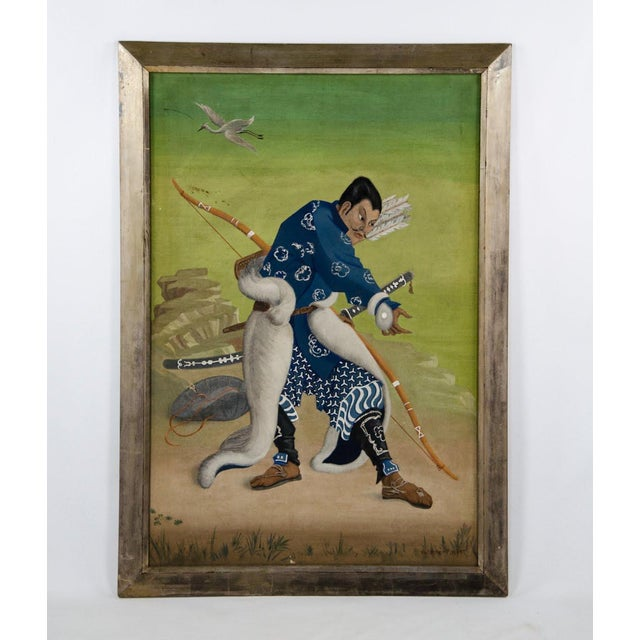 L. Valdemar Fischer Samurai Oil on Canvas Painting For Sale - Image 13 of 13