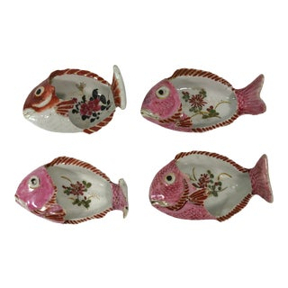 19th C. Arita Fish Shaped Dishes - Set of 4 For Sale