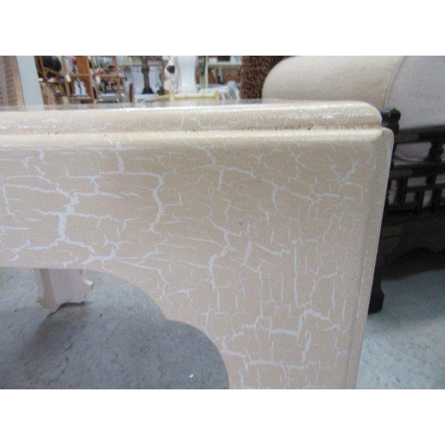 Baker Flirty White Crackle Finish Side Table - Image 3 of 7