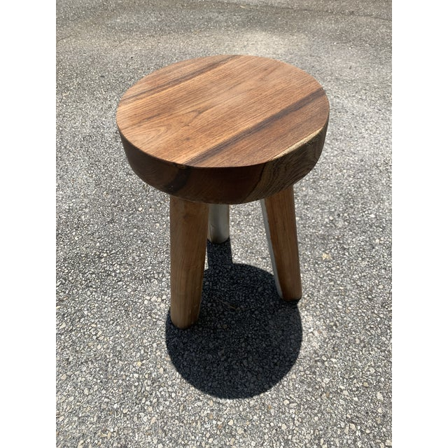 Tan 1970s Ingvar Hildingsson Style Pearwood Stool For Sale - Image 8 of 11