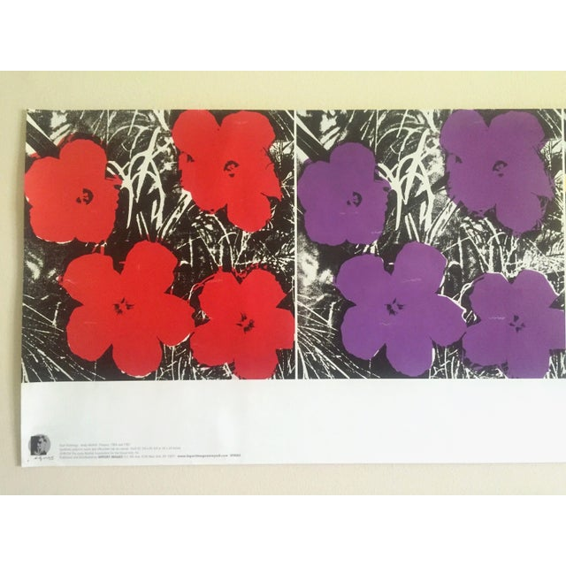 """This Andy Warhol Foundation vintage Pop Art poster print """" Flowers """" 1964 / 1967 is a very special and unique piece to add..."""