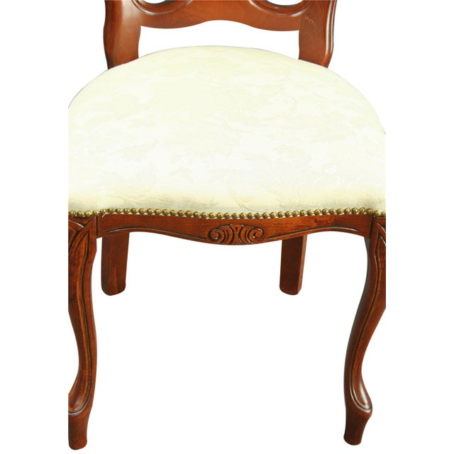Large, New Italian Mahogany Rococo Dining Chair - Image 8 of 8