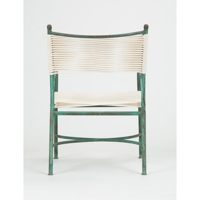 White Robert Lewis Bronze Patio Lounge Chair For Sale - Image 8 of 13