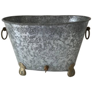 Vintage Regency Zinc Cooler or Ice Bucket For Sale