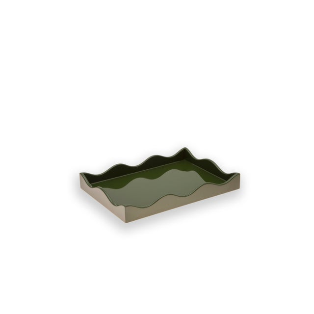 Contemporary Small Belles Rives Tray in Olive - Rita Konig for The Lacquer Company For Sale - Image 3 of 3