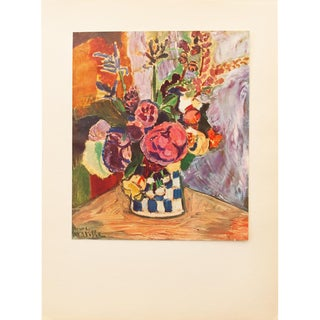 "Henri Matisse Original ""Flowers"" Swiss Period Lithograph, C. 1940s For Sale"