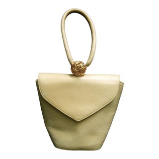Salvatore Ferragamo Chic Italian Wristlet Handbag For Sale